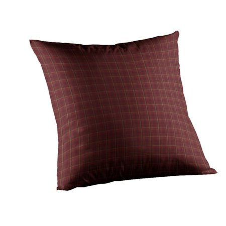Patch Magic Dark Maroon Check Cotton Throw Pillow
