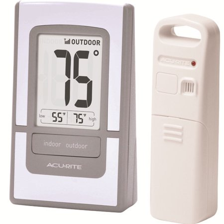 Cooler Wall Thermometer (AcuRite Easy-Read Digital Wireless Thermometer )