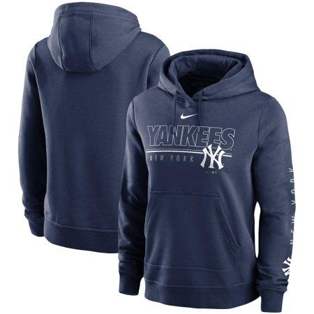 New York Yankees Nike Women's Team Outline Club Pullover Hoodie - Navy
