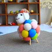 AkoaDa Colorful Lamb Stuffed Plush Toy Soft Cotton Sheep Character Kid Baby Toy Gift Doll Christmas Decor