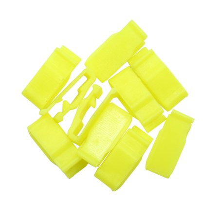 10pcs Yellow Universal Car Console Plastic Retainer Dashboard Clip Fastener (Hp 7240)