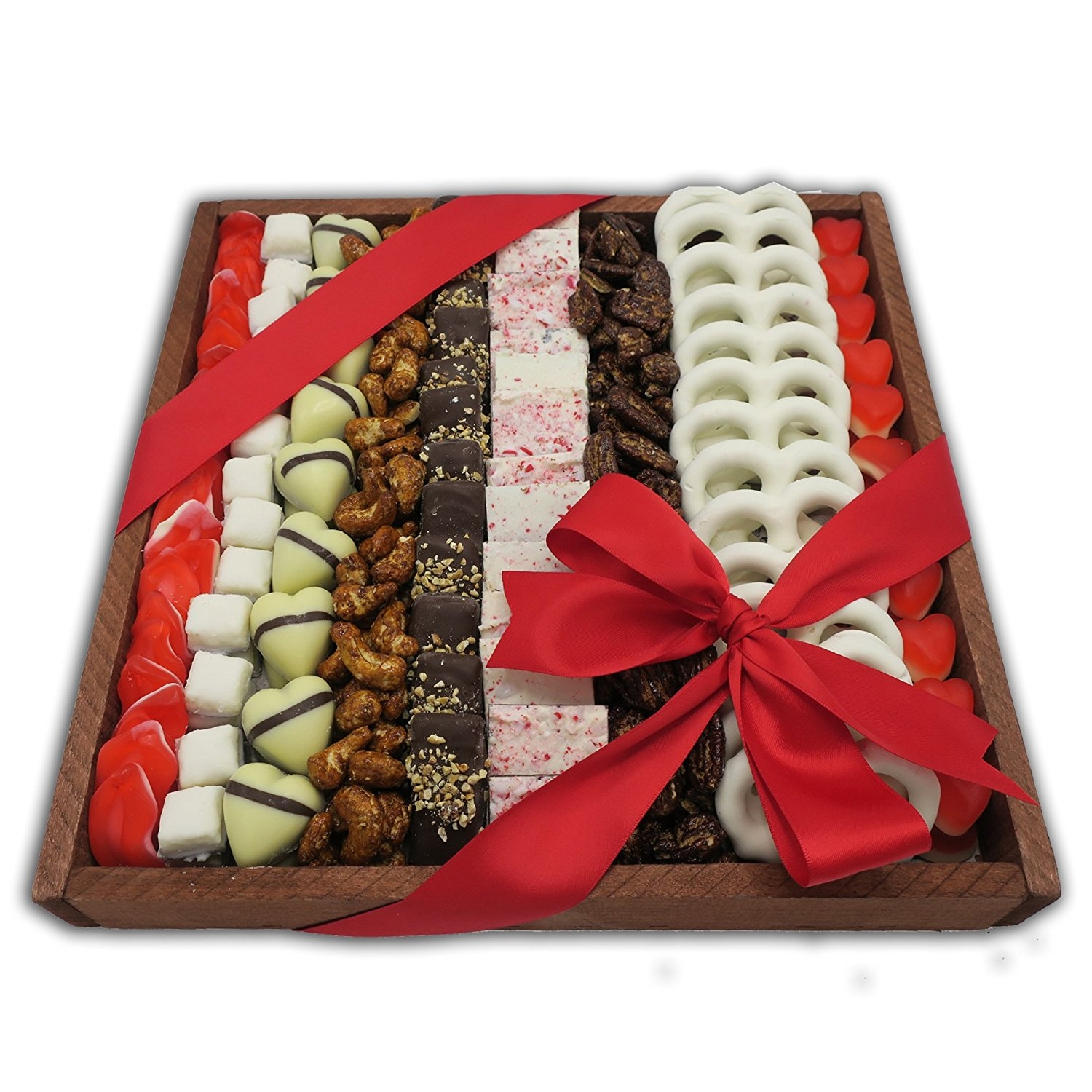 The Nuttery Valentines Day Rectangle Chocolate And Nuts Gift Arrangement
