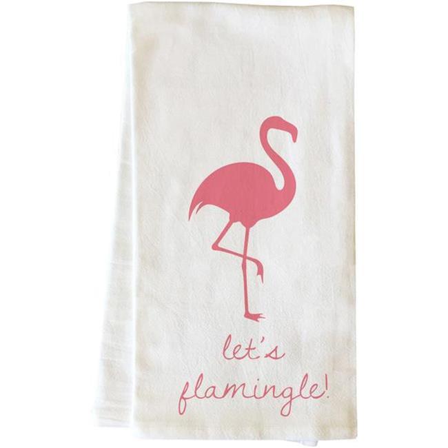 One Bella Casa 82858TW Lets Flamingle Tea Towel - Pink - image 1 of 1