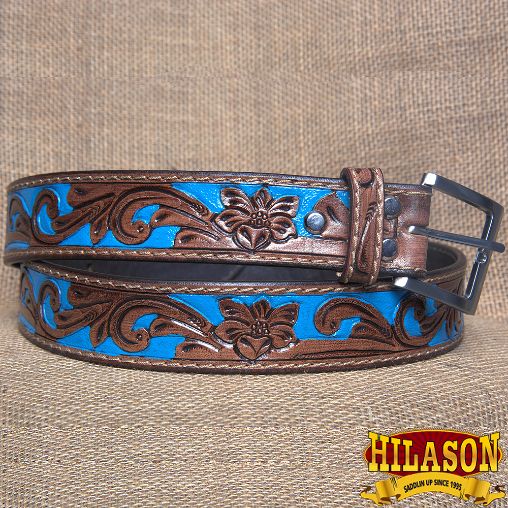 HILASON HANDMADE HEAVY DUTY CONCEALED CARRY LEATHER STICHED GUN HOLSTER BELT 32""