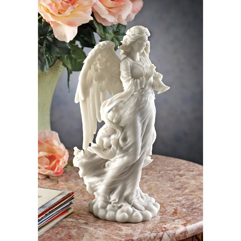Design Toscano 11 in. Trumpeting Cathedral Angel Statue by Design Toscano