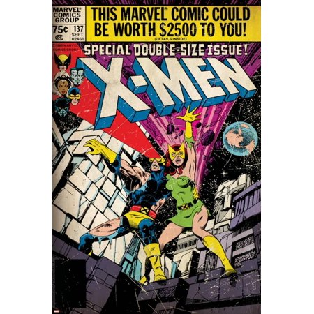 Marvel Comics Retro: The X-Men Comic Book Cover No.137, Phoenix, Colossus (aged) Print Wall Art