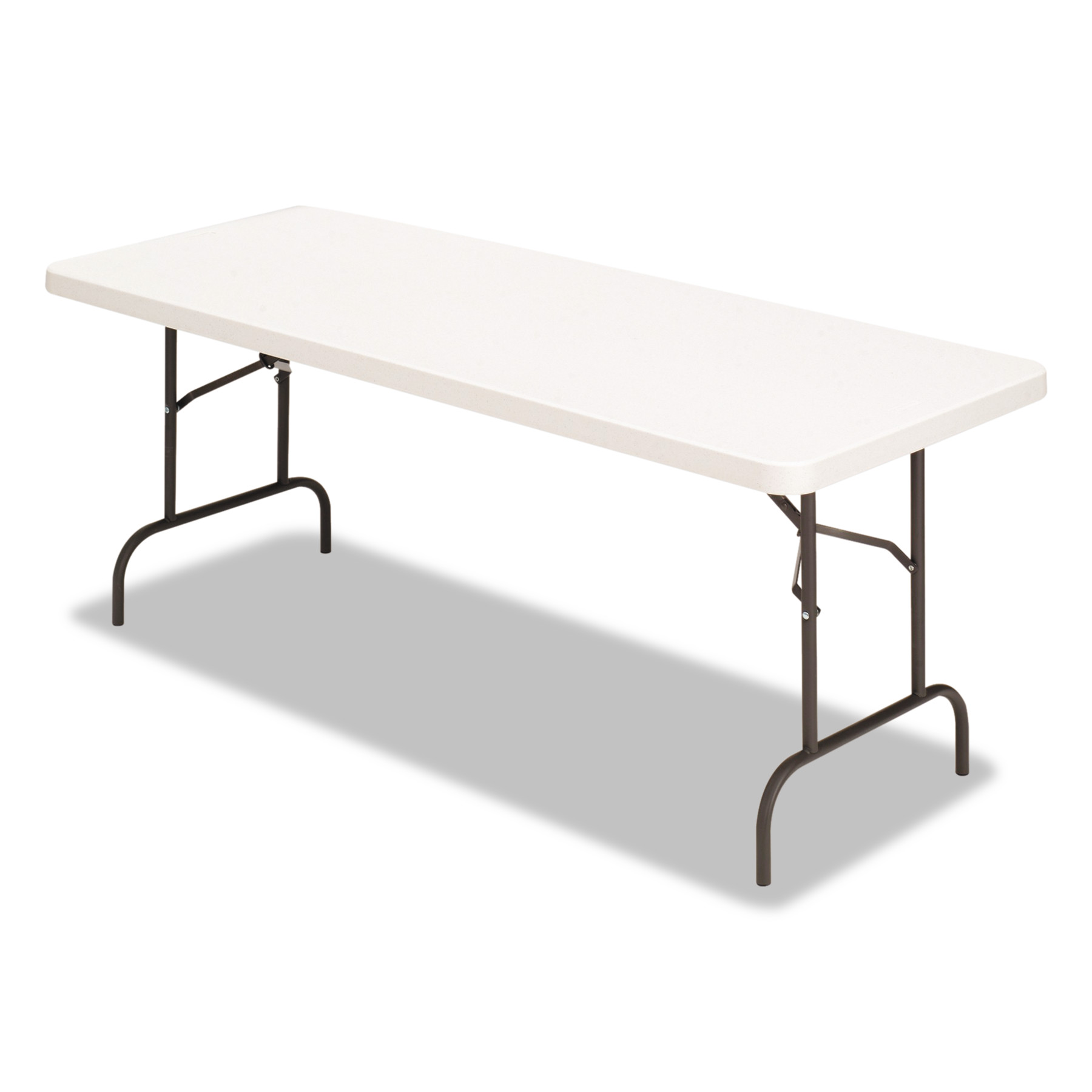 Alera Banquet Folding Table, Rectangular, Radius Edge, 60 x 30 x 29, Platinum Charcoal by ALERA