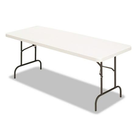 Alera Banquet Folding Table, Rectangular, Radius Edge, 60 x 30 x 29, Platinum/Charcoal