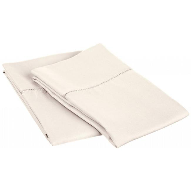 Cotton Rich 600 Thread Count Hem Stitch Pillowcase Set  King-Grey - image 1 of 1