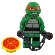 LEGO Minifigure - Teenage Mutant Ninja Turtles - MICHELANGELO with Nunchuks & Pizza
