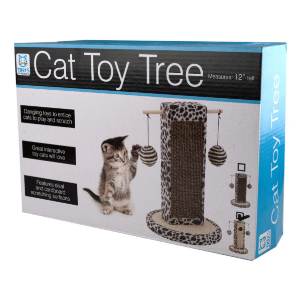 Bulk Buys Cat Toy Tree, Case of 1 by Bulk Buys