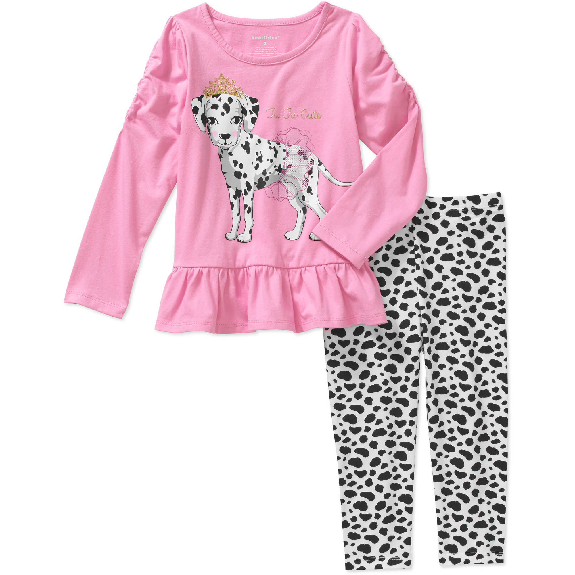 Healthtex Toddler Girls' Knit Tunic and Leggings Outfit Set