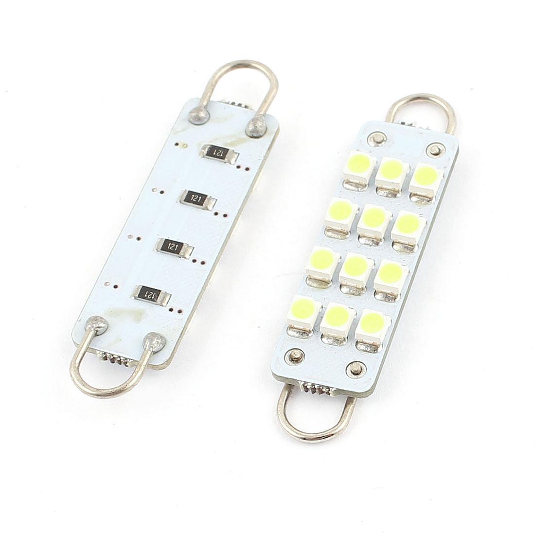 """2PCS 44mm 1.7""""""""1210 12 SMD Blanc Feston Lumière de LED 12844 intérieur - image 1 de 1"""