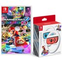 Mario Kart 8 Deluxe for Nintendo Switch + 2-Pack Joy-Con Wheel