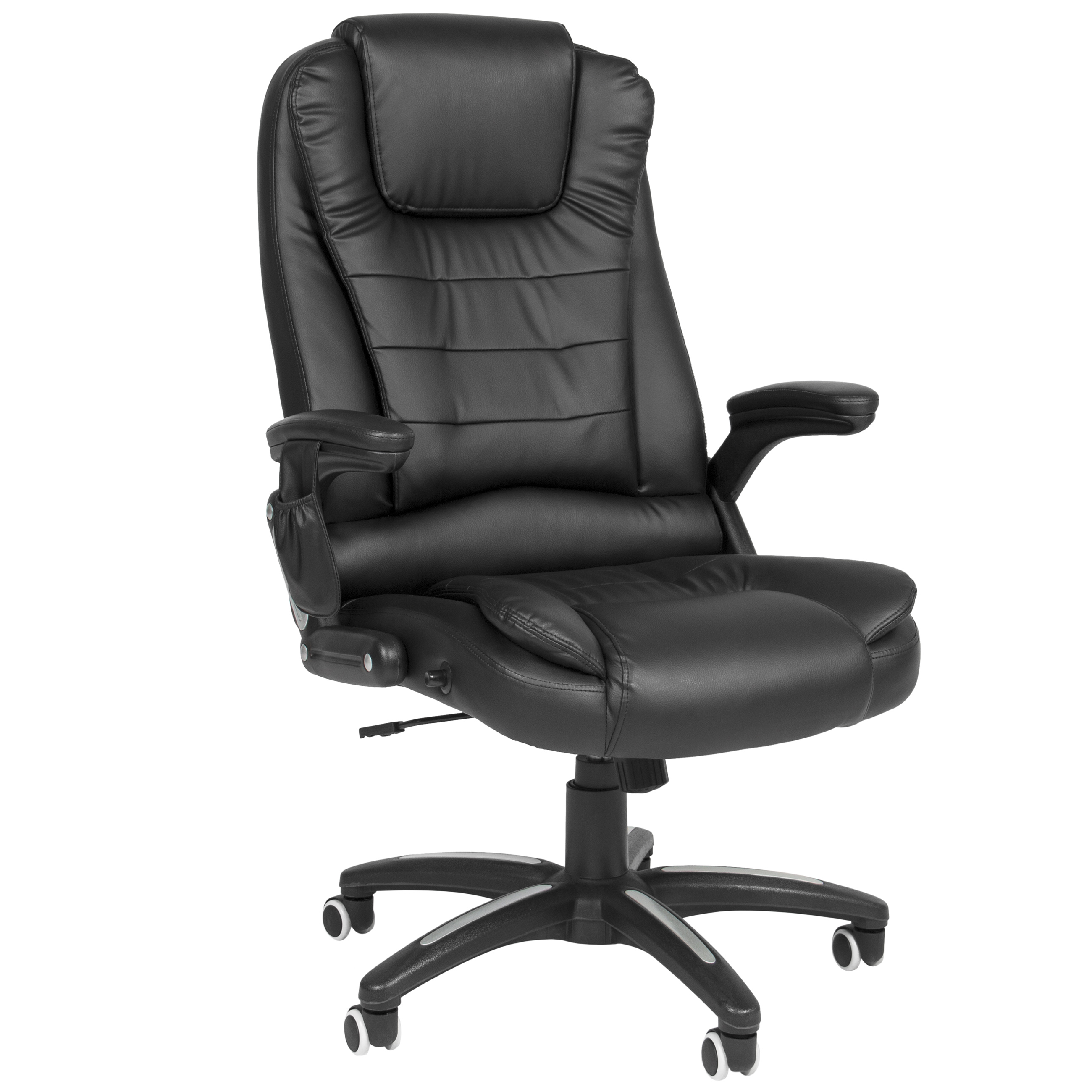 Best Choice Products Executive Ergonomic Heated Vibrating Computer Office Massage Chair Black