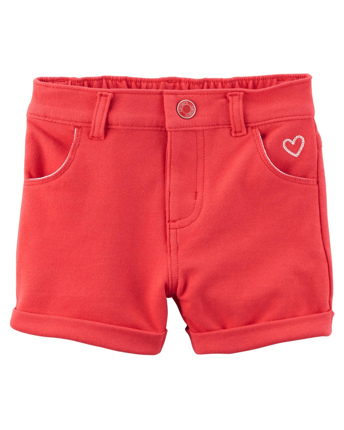 Carter's Baby Girls' Stretch Skimmer Shorts, Red