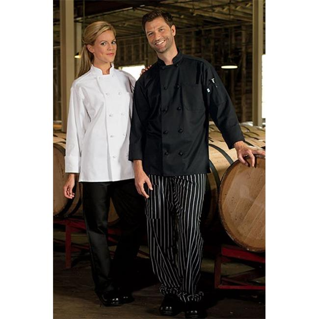 Uncommon Threads 0403-2505 Extra Large Chef Coat 10 Knot in White - image 1 de 1