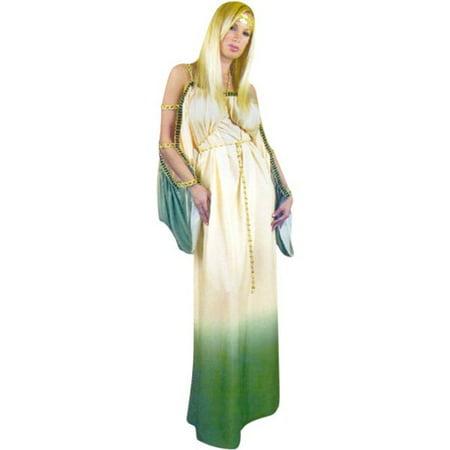 Adult Grecian Princess Costume~Medium 8-10 / Green