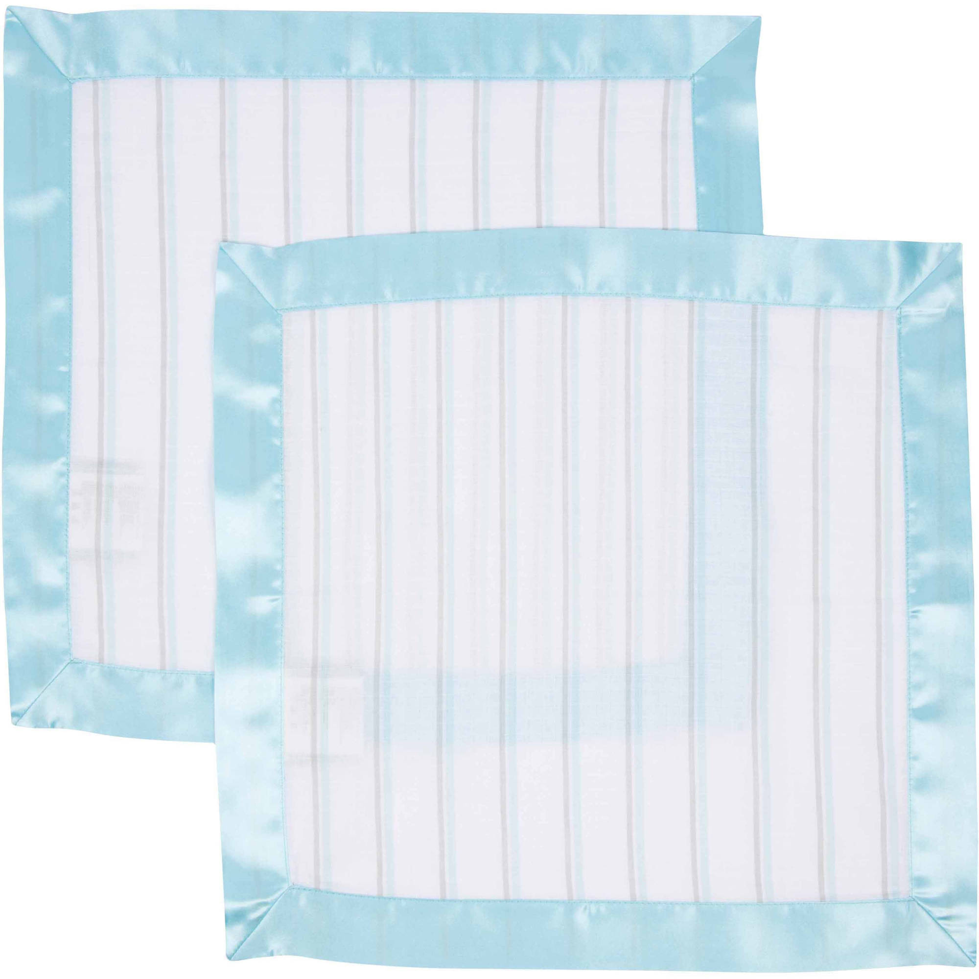 MiracleWare Muslin Cotton Security Blanket, 2pk
