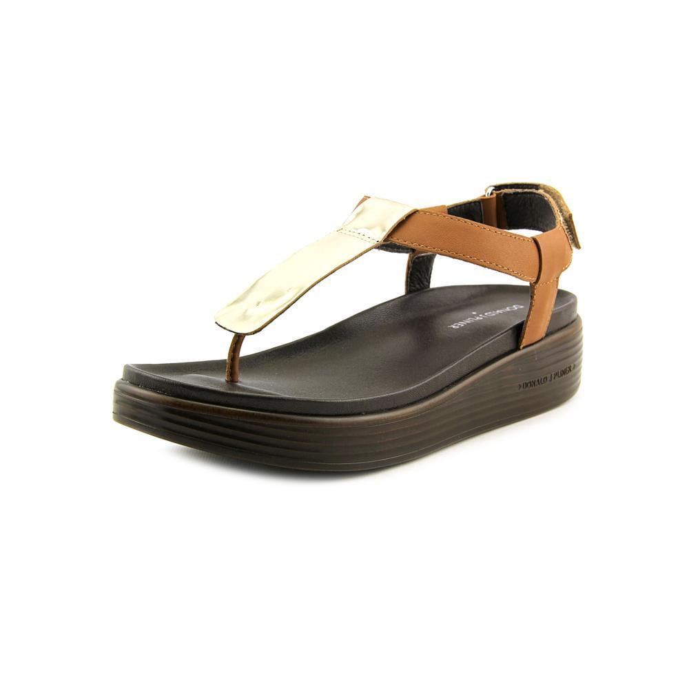 Donald J Pliner Felice Women Open Toe Leather Gold Platform Sandal by Donald J Pliner