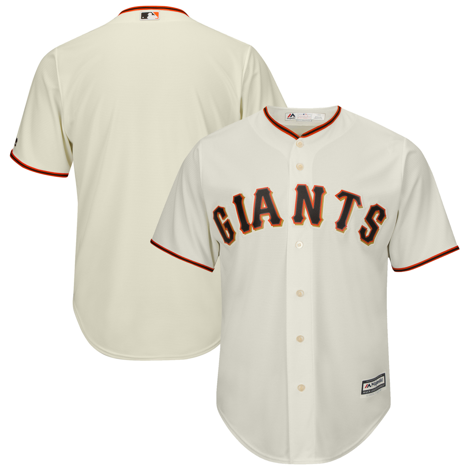 San Francisco Giants Majestic Youth Official Cool Base Jersey - Cream