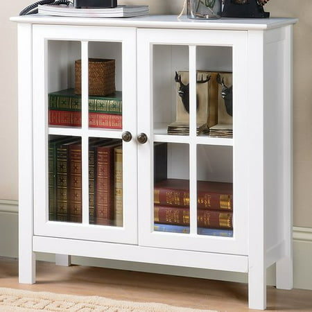 Glass Steel Cabinet (OS Home and Office White Glass Door Accent and Display Cabinet)