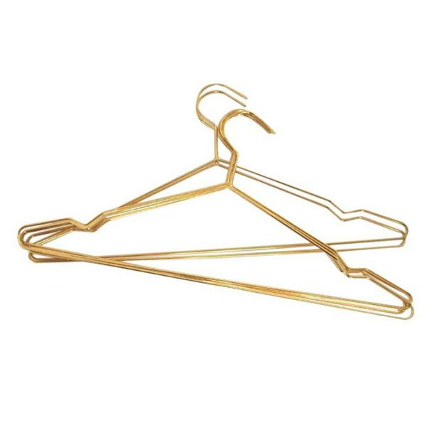 Wire Hangers 10 Pack Coat Hangers Strong Heavy Duty Stainless Steel Metal Hangers Ultra Thin Space Saving Clothes Hangers Walmart Com Walmart Com