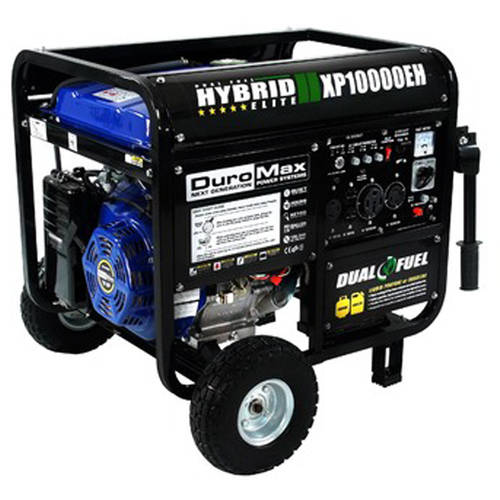 DuroMax XP10000EH 10,000 Watt Dual Fuel Hybrid Propane/Gasoline Powered Generator