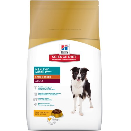 Hill's Science Diet (Get $5 back for every $20 spent) Adult Large Breed Healthy Mobility Chicken Meal & Rice Recipe Dry Dog Food, 30 lb bag