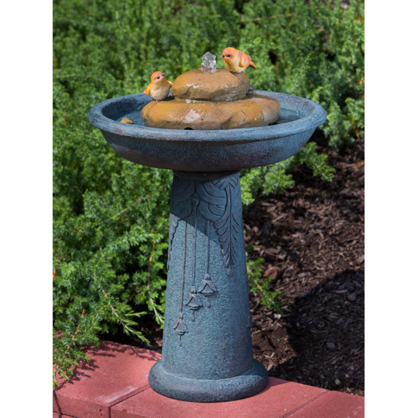 Alfesco Home Birdbath Outdoor Fountain by Alfresco Home