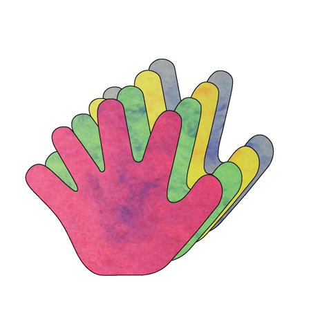 5.5 Hand Marble Assorted Colors Creative Cut-Outs, 31 Cut-Outs in a Pack for Kids Craft, Unity, Handprint Wreath, School Craft P