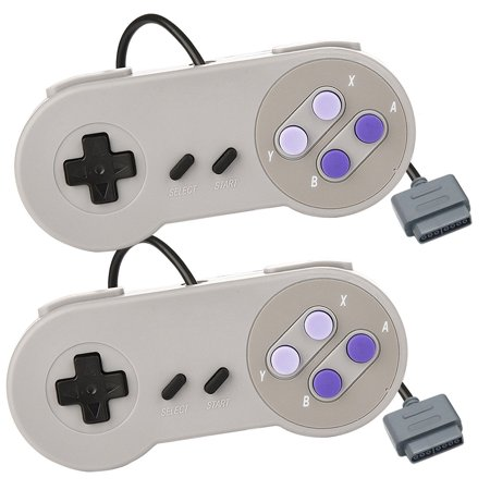EEEKit 2-pack Replacement Game Controller for Nintendo SNES 16 Bit System Console
