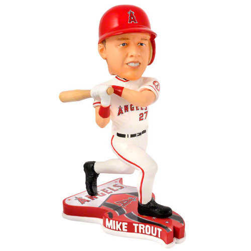 MLB - Mike Trout Los Angeles Angels of Anaheim 2013 Pennant Base Bobblehead