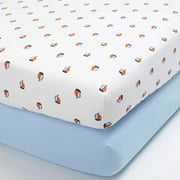 Child of Mine by Carter's Captain Cutie Set of 2 Fitted Crib Sheets