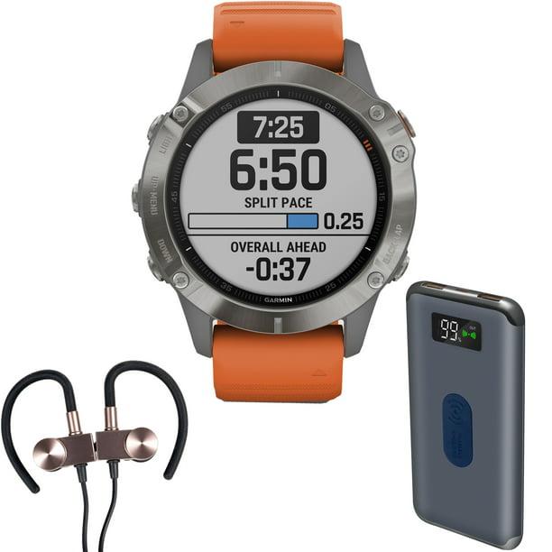 Garmin fenix 6 Sapphire Multisport GPS Smartwatch + Wireless Sport Earbuds & More