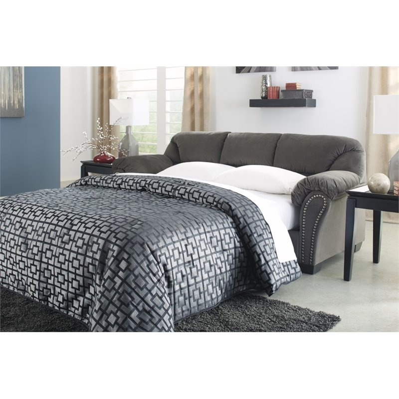 Ashley Kinlock Full Sleeper Sofa in Charcoal Walmartcom