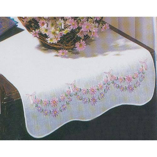Stamped Dresser Scarf For Embroidery-Petit Fleur