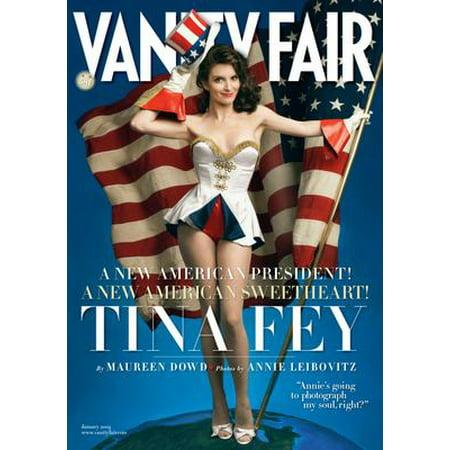 Tina Fey Vanity Fair Cover Metal Sign 8inx 12in