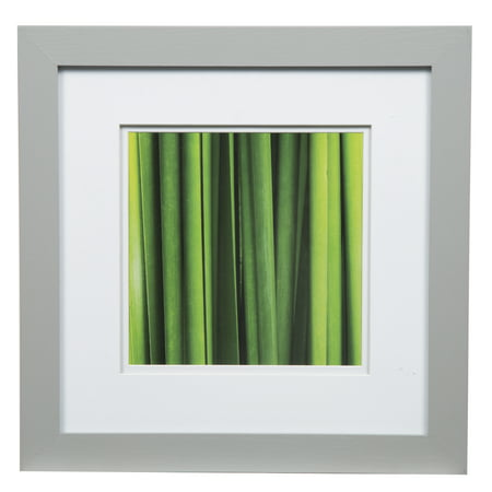 Gallery Solutions 12x12 Wide Grey Frame with Double Mat For 8x8 Image