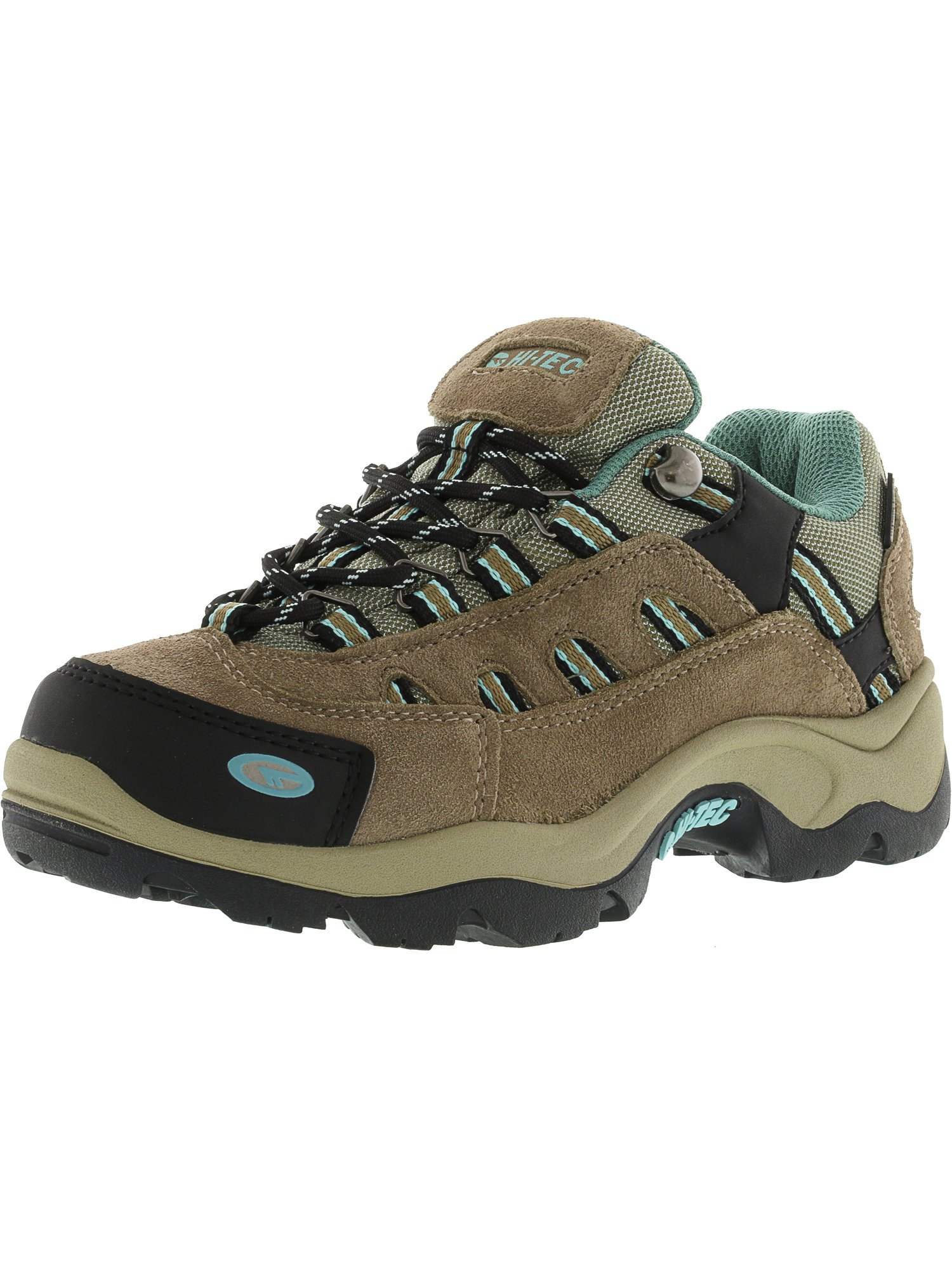 Hi-Tec Women's Bandera Low Waterproof Taupe   Dusty Mint Ankle-High Hiking Shoe 5.5M by Hi-Tec
