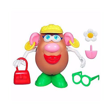 Mrs. Potato Head Toy BROWN, Includes potato body and 15 body parts By Playskool (Mr And Mrs Potatoe Head Costume)