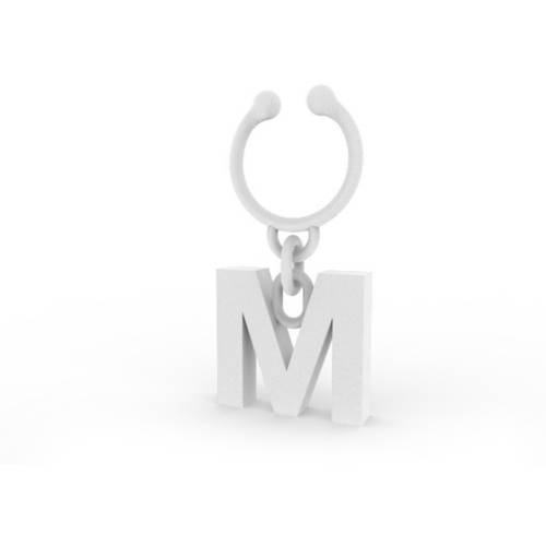 Image of Letter M Wine Charm