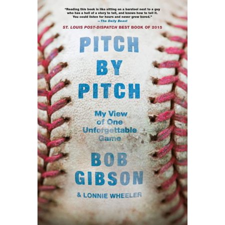 Pitch by Pitch : My View of One Unforgettable Game Bob Gibson Autographed Baseball