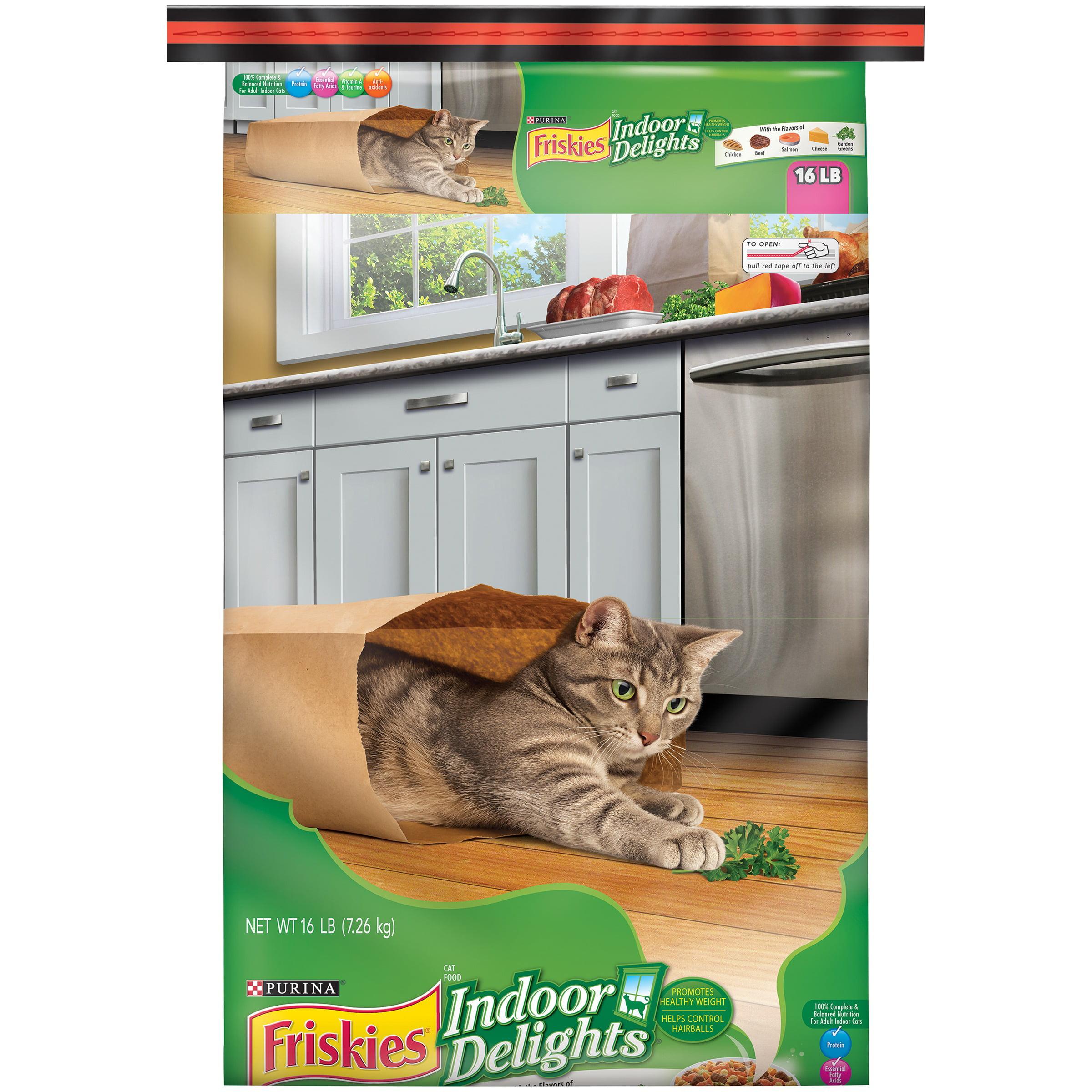 Purina Friskies Indoor Delights Cat Food 16 lb Bag Walmart
