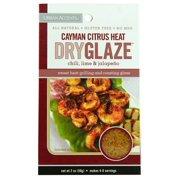 Urban Accents Dry Glaze, Cayman Citrus Heat Chili, With Chilo, Lime, & Jalapeno, 2 Oz