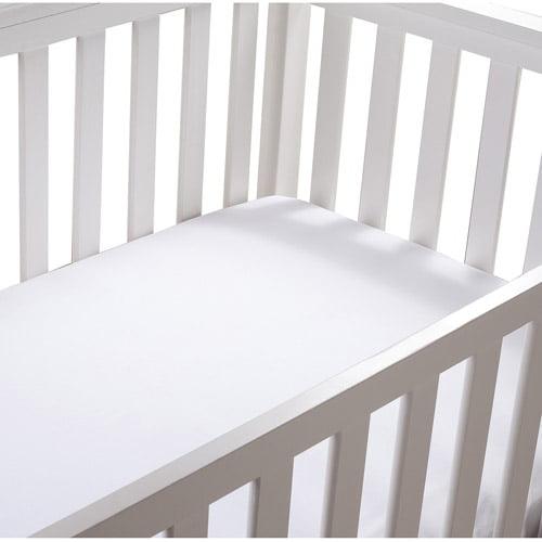 Summer Infant Cotton Crib Sheet, White, 2pk