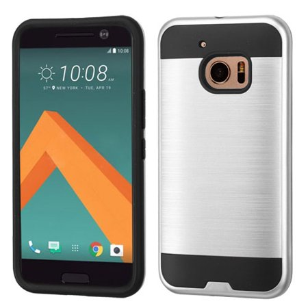 For HTC 10 Brushed Hard Silicone Impact Armor Phone Protector Case