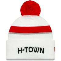 Houston Rockets New Era 2019/20 City Edition Pom Knit Hat - White - OSFA