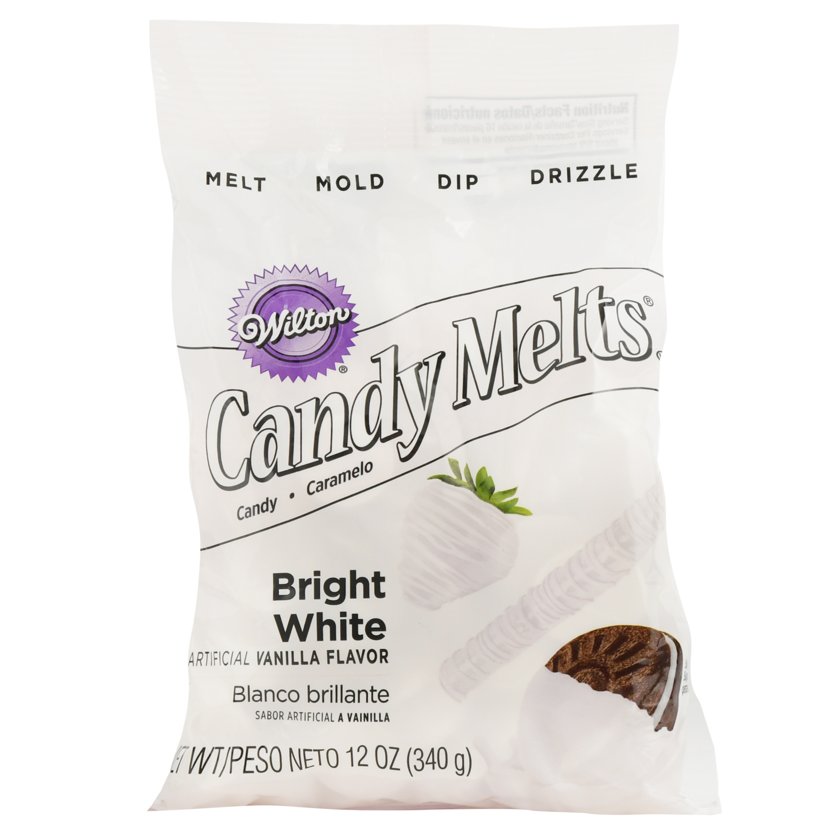 (3 Pack) Wilton Candy Melts, Bright White, 12 oz
