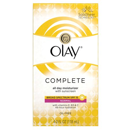 Olay Complete Normal All Day Moisturizer With Broad Spectrum Spf 15 Sunscreen 4 Fl  Oz  Box